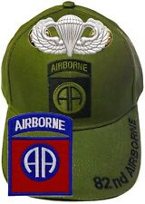 82nd Airborne Insignia Hat U.S. Army Od Green Baseball Cap Patch Paratrooper Pin