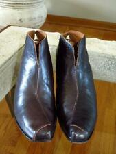 CYDWOQ Vintage Skate Brown Leather Ankle Boots Shoes  41  11