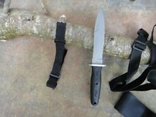 """WALTHER 11"""" TACTICAL FIGHTING DAGGER KNIFE, FULL TANG 3/16TH"""" THICK 440 BLADE"""
