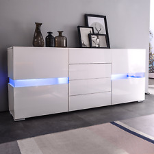 High Gloss White Led Sideboard Buffet Cabinet Chest Of Drawers Storage Cupboard