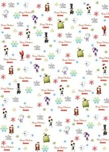 Personalised Nightmare Before Christmas Wrapping Paper
