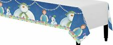 Servizio da tavola di Natale-Pupazzo di neve & Snowdog-PLASTIC TABLECOVER - 1.37m x 2.74m