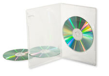 Slim DVD Cases (7mm) Single, Clear - 10 Pack