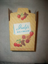 Brand New Old Stock Vintage Isaly's pint  Ice Cream Take Home Container