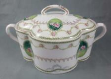 Antique c1900 ROSENTHAL Bavaria PORCELAIN CHRYSANTHEME BISCUIT JAR Rose Swags