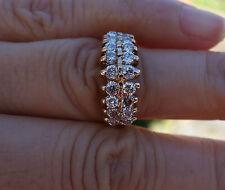 1ct I-J-Si1-Si3 vintage diamond 2 row wedding band right-hand ring 14k YG