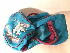 Vintage Popples Cartoon Duffel Sleeping Over Night Sleepover Bag Purple 1980s