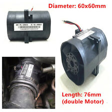 2.7A Electric turbine Turbo Double Fans Super Charger Boost Intake Fan Universal
