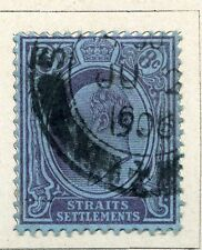 STRAITS SETTLEMENTS;  Early 1900s Ed VII issue 8c. fine used value