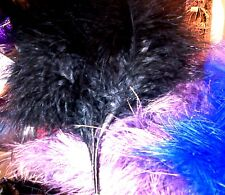 Real Marabout Fluffy Wired Feathers X6 Colour Choice Wedding Quality Fascinator Black