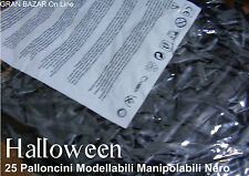 HALLOWEEN PALLONCINI MODELLABILI MANIPOLABILI NERO 25 Pz  HORROR PARTY FESTA