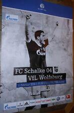 Gioco MANIFESTO - 01.02.2014 - FC Schalke 04 vs. VfL Wolfsburg + stagione 2013/2014 +