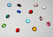 Small Assorted 4mm Size 12 Colored Birthstones 1/ month Fit Origami Owl Lockets