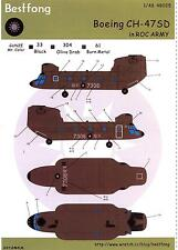 Bestfong Decals 1/48 BOEING CH-47SD CHINOOK Chinese Army