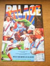 08/12/1981 Crystal Palace v West Bromwich Albion [Football League Cup] (Team Cha