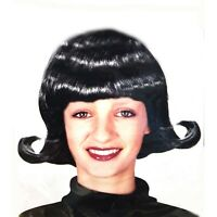 50s 60s Black Flip out Wig Adult Womens Costume Hair Accessory Jackie-O Ladies