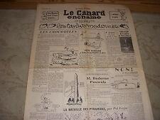 CANARD ENCHAINE 1881 07.11.1956 SAINT EXUPERY René FALLET CHARS RUSSES BUDAPEST