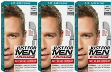 Set of 3 - JUST FOR MEN  A-15 Drk Blnd / Lt BrownAutoStop Foolproof Haircolor
