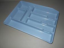 Vintage Blue Rubbermaid Silverware Tray Cutlery Drawer Organizer Flat Ware 0521