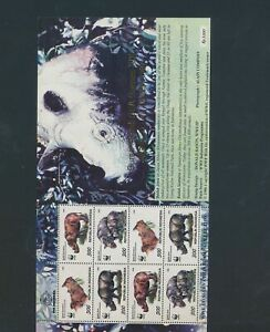 XC91786 Indonesia WWF rhinceros wildlife good sheet MNH