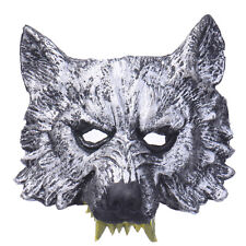 Wolf Head Rubber Mask Halloween Party Cosplay Animal Costume Theater Prop Toys