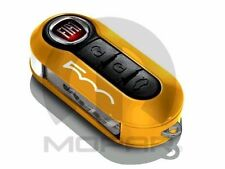 OEM NEW FIAT 500 500L OCHRE YELLOW AND WHITE KEY FOB DECORATIVE CLIP ON COVER