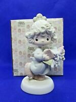 Lord Help Me Stick To My Job 1989 PRECIOUS MOMENTS Boxed Figurine #521450 Enesco