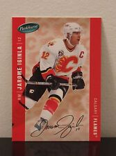 2005/06 PARKHURST NHL CALGARY FLAMES JAROME IGINLA #67 FACSIMILE AUTOGRAPH /100