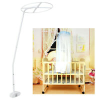 Mosquito Net Holder for Drape Canopy Stand Clip-On Ring Clamp Rod Bar Pole