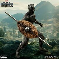 "Mezco One:12 Collective Marvel Black Panther 1/12 Scale 6"" Action Figure In Hand"