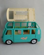 Sylvanian Families Blue/Green Campervan Camping Used Food Spare Items Spares