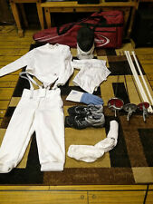 EXCELLENT COND Absolute Fencing Advanced Gear: bag, men's 350N outfit, 3 swords