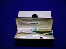 Vtg Anson 360 Jewelry Quality Writing Instruments Genuine Jade  & Box USA R35T2