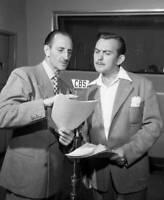 OLD CBS RADIO PHOTO Basil Rathbone In The Crime Drama Tales of Fatima 1