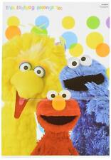 Sesame Street Elmo Cookie Big Bird Kids Birthday Party Favor Sacks Loot Bags
