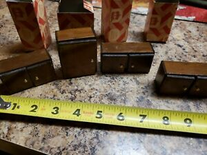 Lot 4 Dollhouse Miniatures 1:12 Kitchen Cabinet Upper Large Brown Town Square