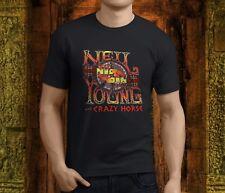 New Popular Neil Young Crazy Horse Mens Black T-Shirt S-3XL