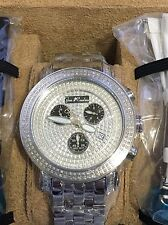 New Authentic Mens Joe Rodeo classic jcl51 st.steel 3.50ct.apx. Diamond Watch
