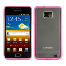 kwmobile Crystal Case für Samsung Galaxy S2 S2 Plus Tpu Bumper Pink Transparent