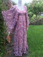 VINTAGE INDIAN DRESS QUAD 60s 70s PAISLEY BOHO WEDDING HIPPY PSYCHEDELIC 8/10/12