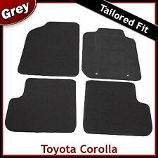Toyota Corolla Mk9 / E120 E130 2001-2007 Tailored Fitted Carpet Car Mats GREY