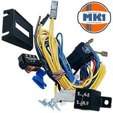 Iluminación de la medida pre-cableado 12v Coche Luces Antiniebla Lámparas Spot de conducción Telar Kit de cableado
