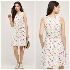 New ANTHROPOLOGIE SUNDAY IN BROOKLYN TOUCAN Dress Size S $178 Small