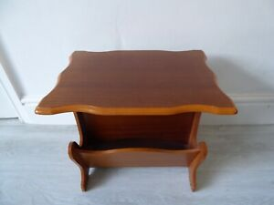 Vintage Wooden Magazine Rack Coffee Table
