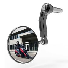 "1 Oxford Bar End Premium Black Motorcycle Right Hand Mirror - 7/8""  Bars OX710 T"
