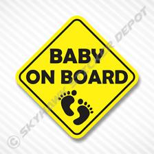 Baby On Board Yellow Vinyl Decal Bumper Sticker Baby Girl Boy Sticker Car Truck