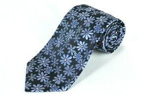 Ted Baker Men's Tie Navy & Pink Floral Woven Silk Necktie 59 x 3.75 in.