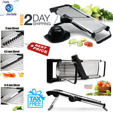 Mandoline slicer Stainless Steel Adjustable Food Vegetable Kitchen Blades Cutter