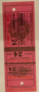 Rocky Marciano  V Roland La Starza 1953 Heavyweight Title Boxing Full Ticket
