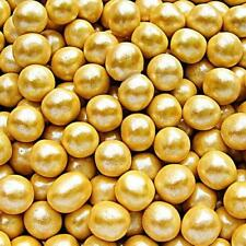 8mm Gold Sugar Balls Pearls Natural Cake Decoration Edible Toppers GMO Soy Free
